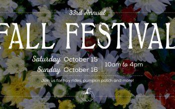 33rd Annual Fall Festival