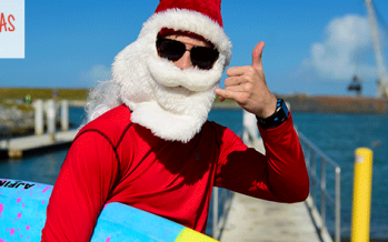 Cocoa Beach Surfing Santas