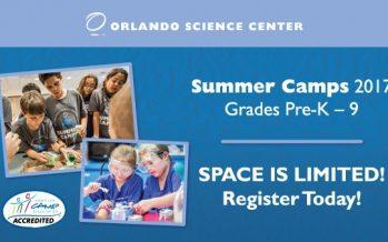 Orlando Science Center Summer Camps Filling Up