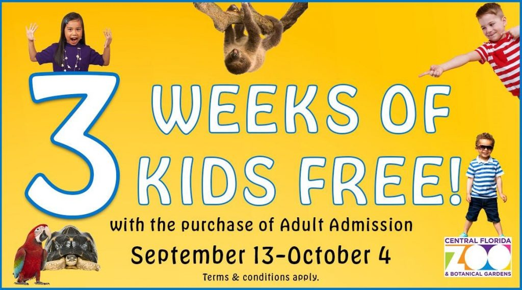 Central Florida Zoo Kids Free Weekends