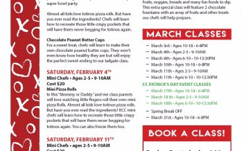 February 2017 Kids Cooking Classes
