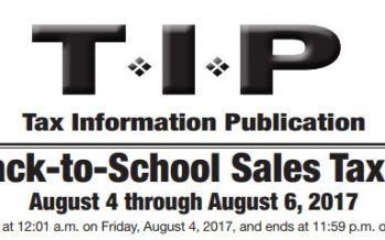 2017 Back to School Sales Tax Holiday