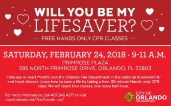 Free Orlando CPR Class 2018