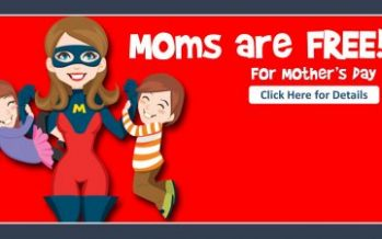 Mother's Day Moms Eat Free 2018