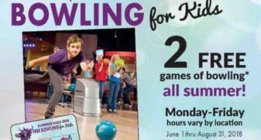 Aloma Bowling Centers Kids Bowl Free 2018