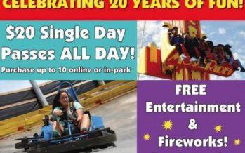 Fun Spot America's 20th Birthday