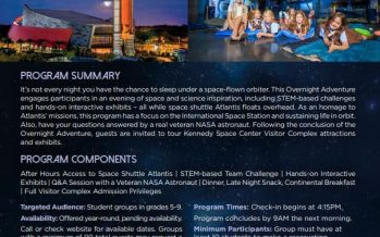 Kennedy Space Center Family Overnight Stay