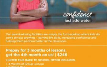 Goldfish Swim School Offer August 2018