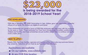O2B Kids Scholarship Program 2018