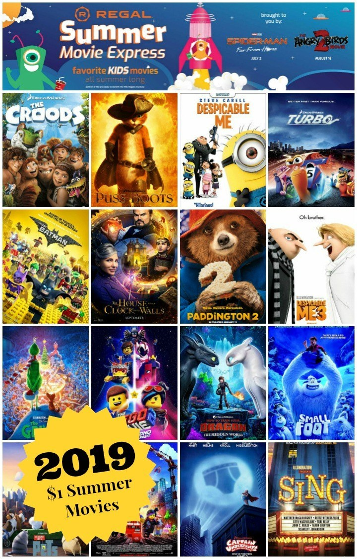 Regal Summer Movie Schedule 2019