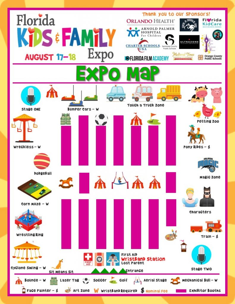 Florida Kids and Family Expo Map 2019
