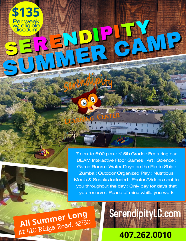 Serendipity Learning Center Offers Summer Camp Serendipity for Kids in 2021