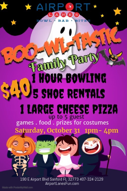 Halloween Events from Boardwalk Bowl and Airport Lanes are Coming