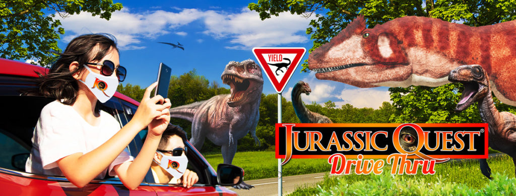 Jurassic Quest Brings Realistic Dinosaurs to Drive-thru at Orange County Convention Center