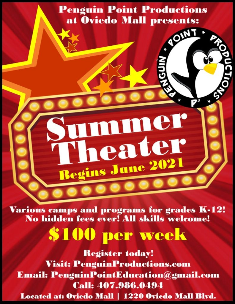 Penguin Point Productions Summer Camps at the Oviedo Mall