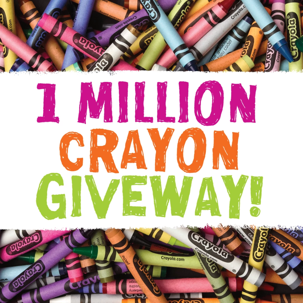 Crayola Experience is Giving Away 1 Million Crayons for National Crayon Day 2021