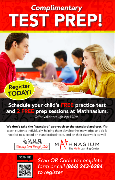 Complimentary Test Prep from Mathnasium