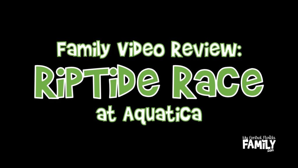 Family Video Review Aquatica's RipTide Race